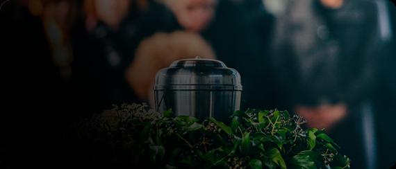 Serviço Cremação - Jarro com as cinzas da Cremação