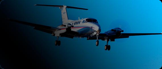 Serviço Translado aéreo - Visão de um avião voando