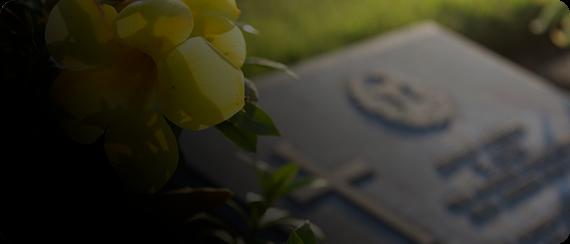 Serviço Cemitérios - Visão de uma lápide